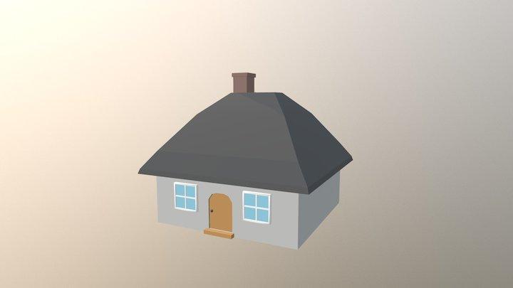 Simple Cottage 3D Model