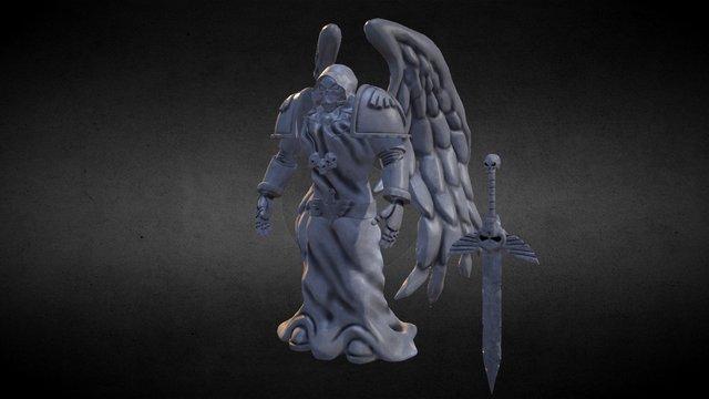 Dark Angels Space Marine Statue 3D Model