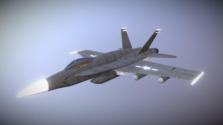 F/A-18 Fighter 3D Model