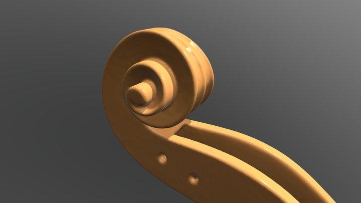 Carved Violin Scroll 3D Model