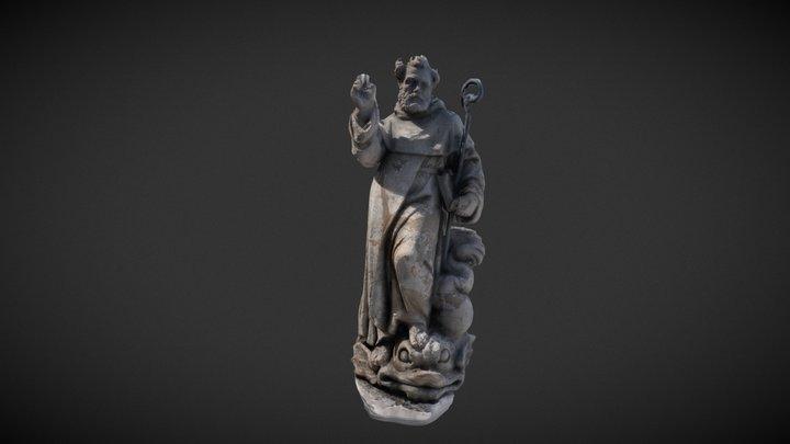 Statua di S. Antonino a Sorrento in Piazza Tasso 3D Model