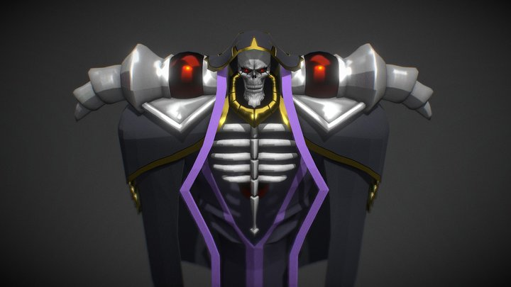 OVERLORD Ainz Ooal Gown 3D Model