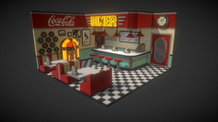 Jukebox Diner 3D Model