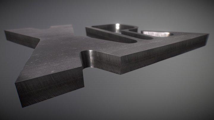 Esempio di taglio sull'acciaio inox 3D Model