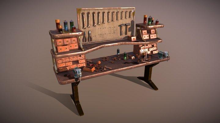 Steampunk Workbench 3D Model
