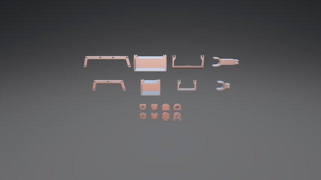BigBox Misc XLS Frame Parts Comparison 3D Model