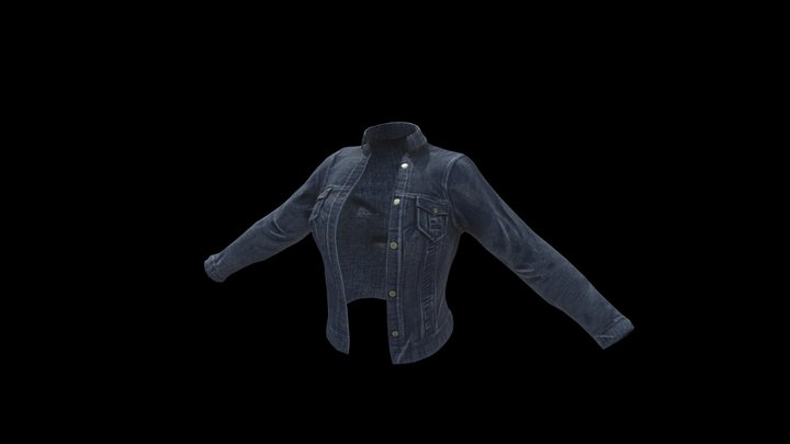Denim Jacket 3D Model