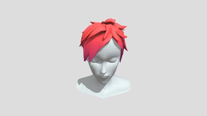 Stylized Male Punk Hair 3D Model