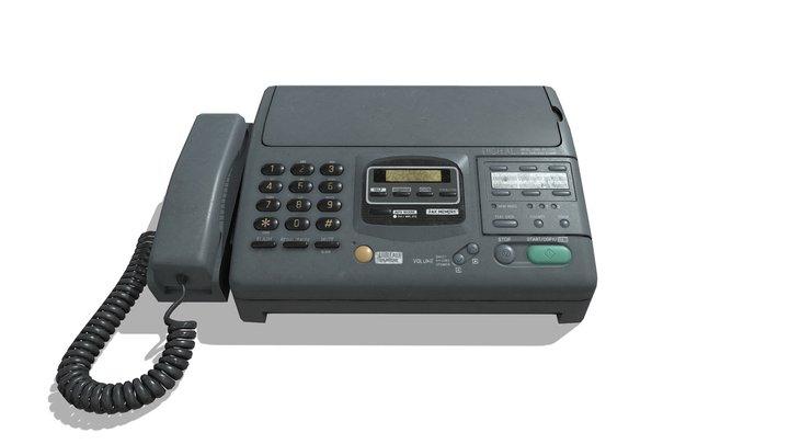 Old Fax (Game Asset) 3D Model