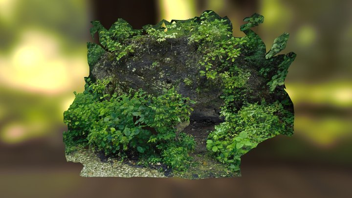 Cave at Mounds State Park 3D Model