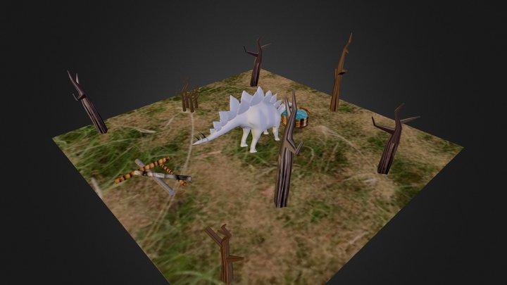 Martin Mukasa - Stegosaurus Project 3 3D Model