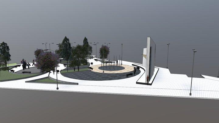 Recreative Plaza last design 3D Model