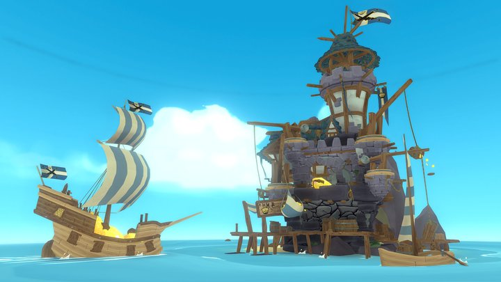 Offshore Tax Haven But It's With Pirates 3D Model