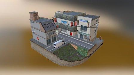 CityScene by Emile Van Den Berghe 3D Model