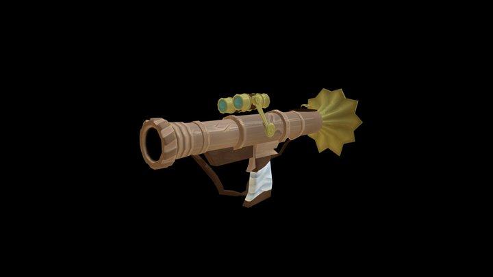 Steampunk Cannon 3D Model