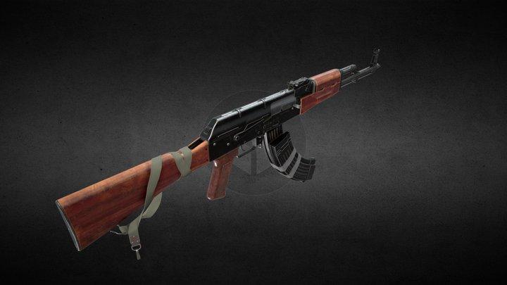 Russian AKM [Free] 3D Model