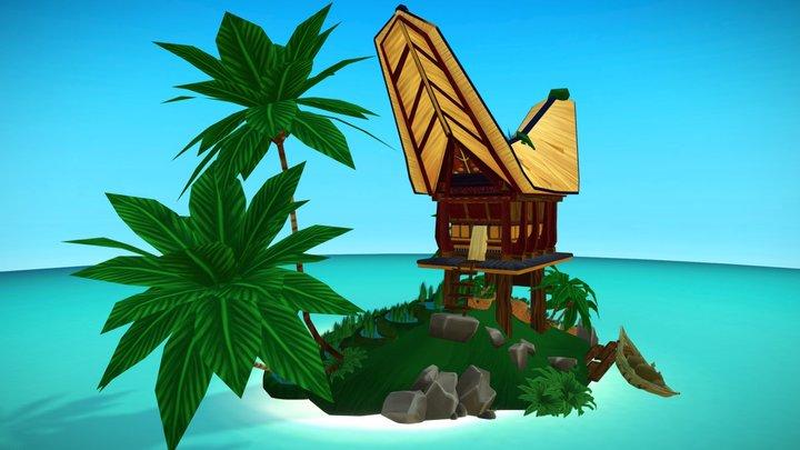 Rice Plantation Island 3D Model
