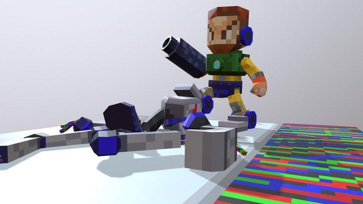 Survivor - Robot defeated 3D Model