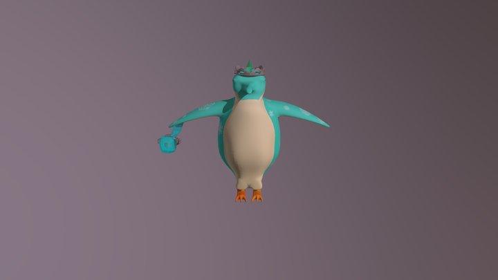Guinevere the Empress Penguin 3D Model
