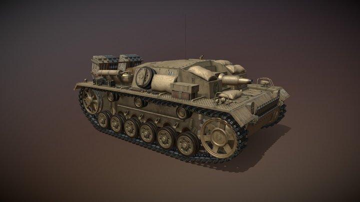 StuG III - Ausf.D - DAK 3D Model