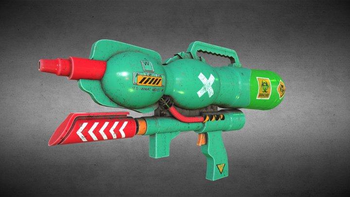 Biohazard Fluid Weapon 3D Model