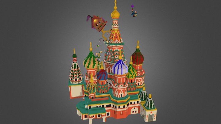 Attack on Saint Basil's Cathedral, Moscow 3D Model