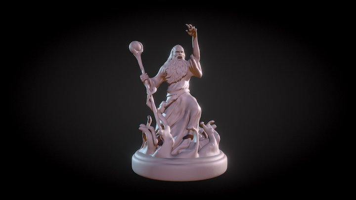 Mage - Tabletop Wars 3D Model