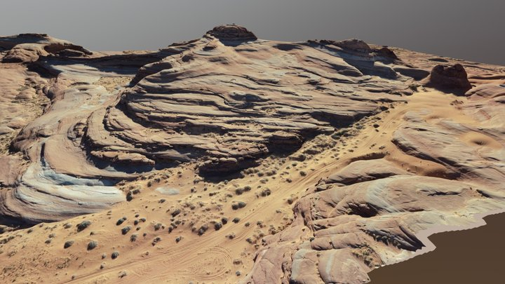 White Wash Sand Dunes, Utah USA 3D Model
