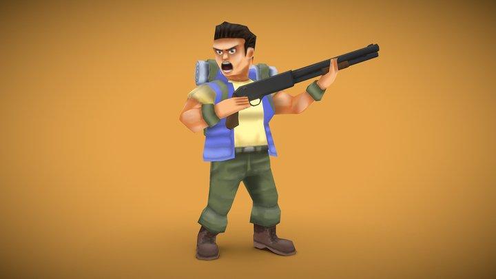Walter Ryan - Metal Slug 3D Model
