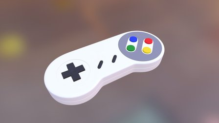 Nintendo Gamepad 3D Model