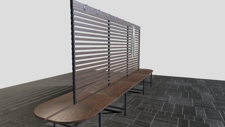 Changing Room Bench 3D Model