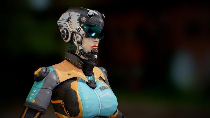Sci-Fi Pilot - Ashley 3D Model