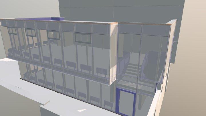 Kantonsschule Schaffhausen, Annexbau Mensa 3D Model