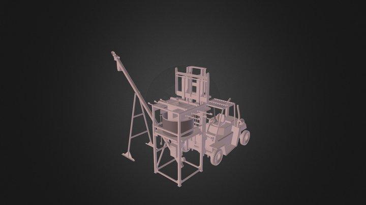 Screw Conveyor with Vibrating Bunker ST VB 6K 3D Model