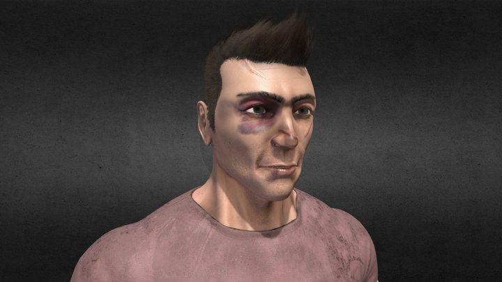 Dan grieving 3D Model