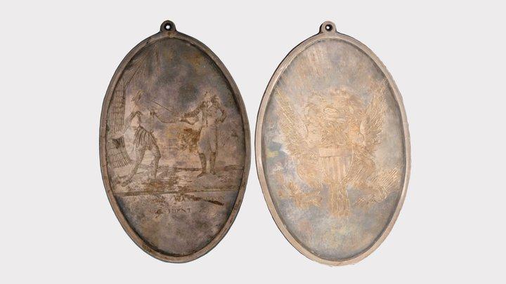 Washington Peace Medal (High) 3D Model