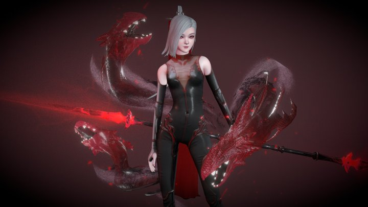 Xylia - Daughter of the Red Moon 3D Model