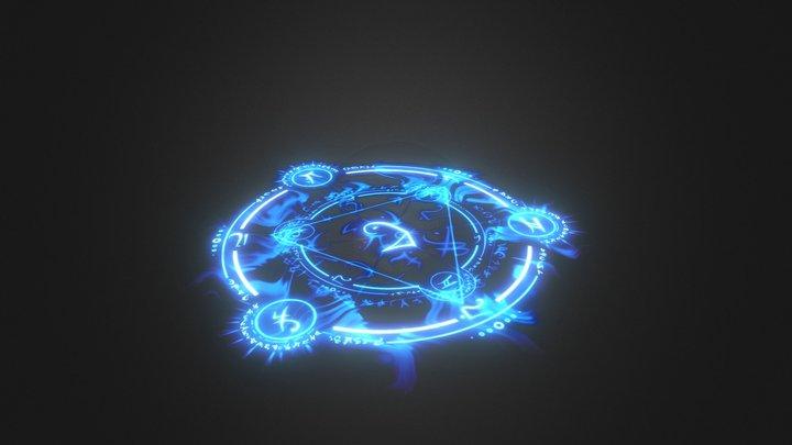 Magic Ring - Blue 3D Model