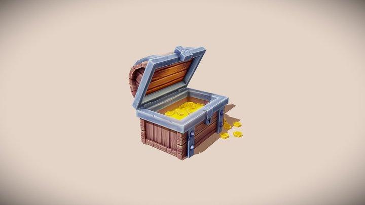 Treasure Chest - 3d Game asset (mobile game) 3D Model