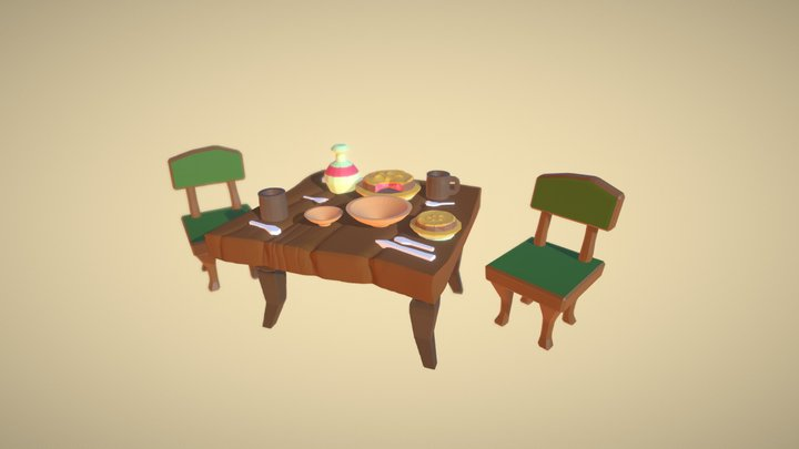 Meeting with a Friend - 3December 2020 - Pie 3D Model