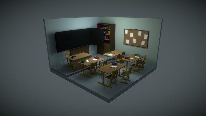 Isometric Room School 3D Model