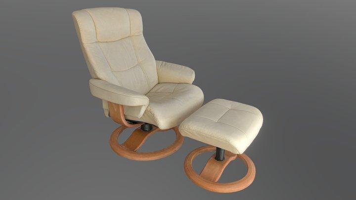 Relax leather chair / Relax Ledersessel 3D Model