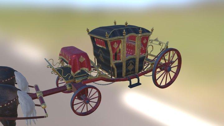 XVIIIth Century Coach 3D Model