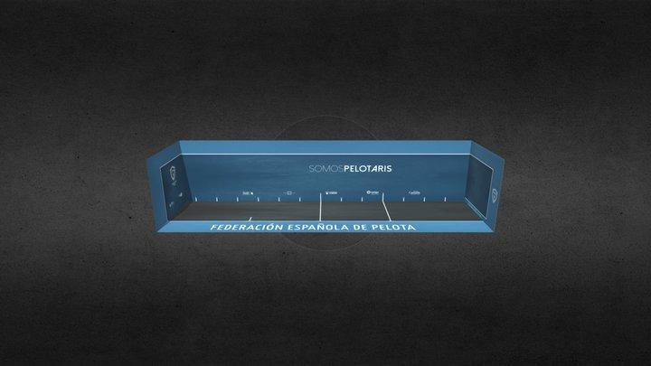 Frontón 54 metros FEPelota 3D Model