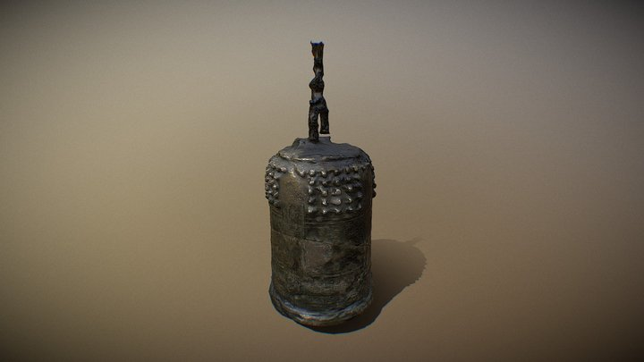 Japanese Bell - Pasadena, California 3D Model