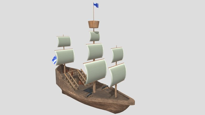 Bateau 3D Model