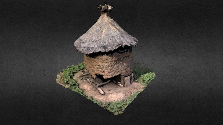 Grenier à grains - Obiré, Burkina Faso 3D Model