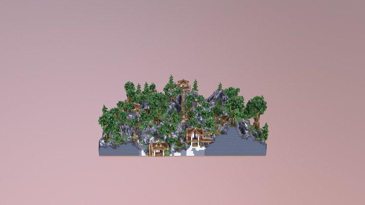 Oriental Hub/Lobby 3D Model