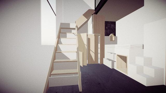 Chambre pour Marcellina 1 WIP elemOuverts 3D Model