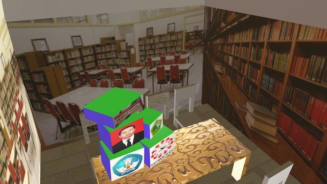Ruang Perpustakaan (Library) 3D Model